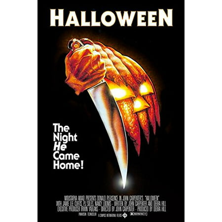 John Carpenters Halloween (1978) 36x24 Classic Horror Movie Art Print Poster The Night He Came Home! - Halloween Opening Theme 1978