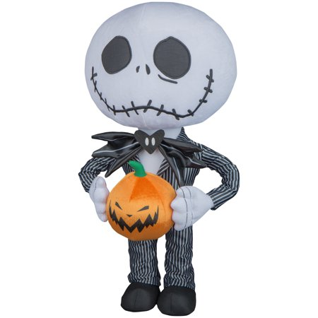 Epic Halloween Decorations (Halloween Greeter Big Head Jack Skellington Disney by Gemmy)