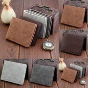 Hirigin Mens Wallet Card Holder Matte Leather Slim Short Purse