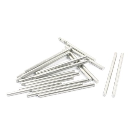 Unique Bargains 20 Pcs Rc Toy Car Frame Round Stainless Steel Straight Rods Axles 1 6Mmx25mm