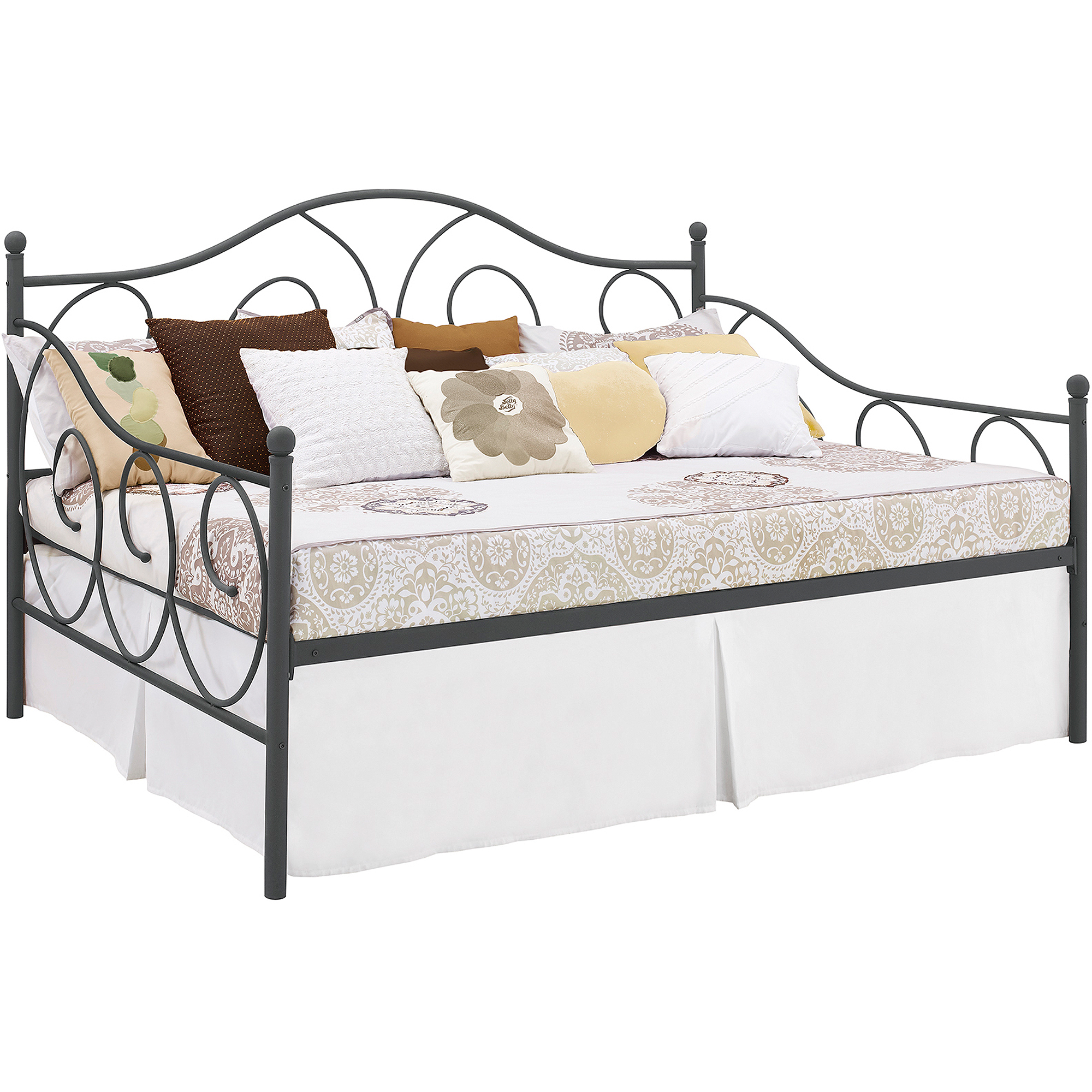 DHP Victoria Full Size Metal Daybed Frame, Multiple Colors