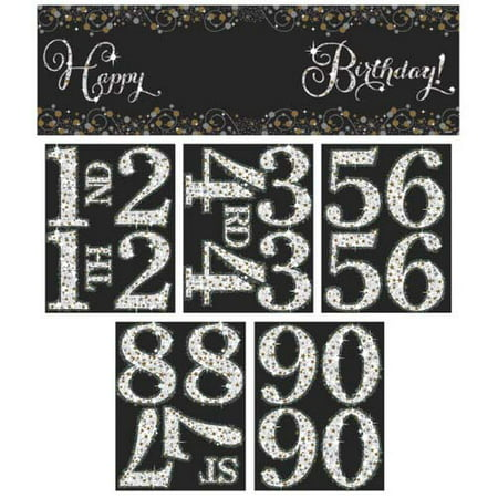 Happy Birthday 'Sparkling Celebration' Customizable Giant Banner (1ct) (Customizable Banner)