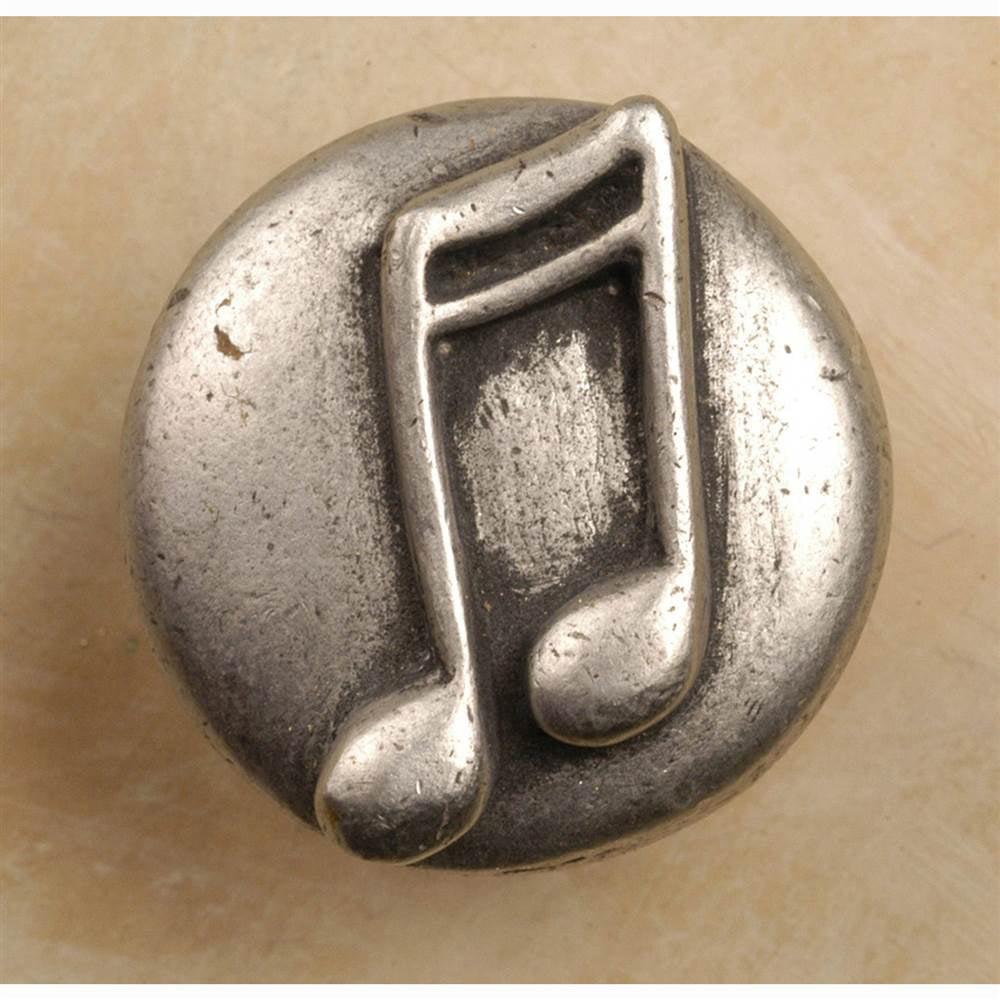 Double notes knob (Set of 10) (Antique Bronze)