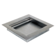 """CRL BRT116 Brushed Stainless Non-Ricochet Level 1 Bullet Resistant 16"""" W x 11"""" D x 1-3/4"""" H Drop-In Deal Tray"""