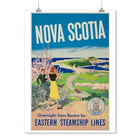 Canada - Nova Scotia - (artist: Treidler) - Vintage Advertisement (9x12 Art Print, Wall Decor Travel Poster)