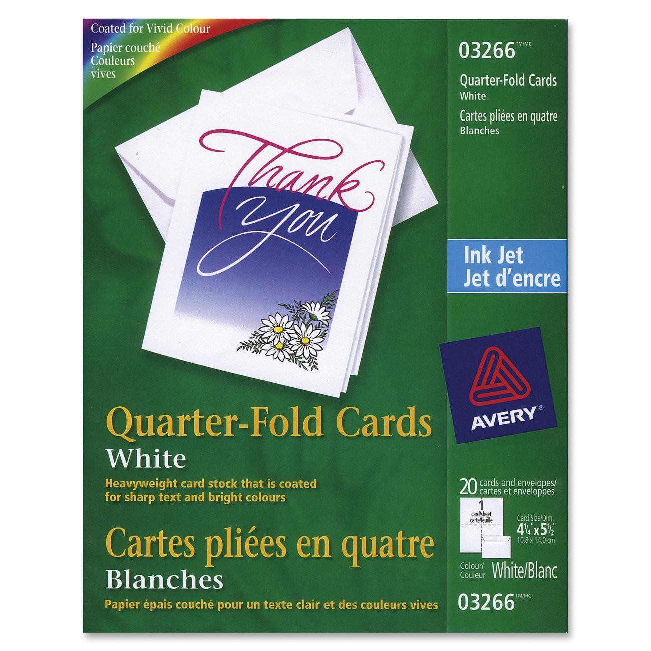 avery quarter fold greeting cards matte white inkjet 4 1 4 x 5 1