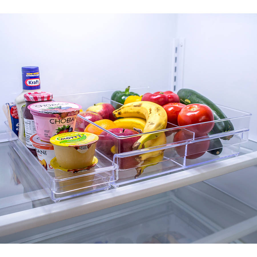 Sorbus Fridge Bins and Freezer Organizer Refrigerator Bins Stackable Storage Containers, BPA-Free Drawer Organizers for Refrigerator Freezer and Pantry Storage