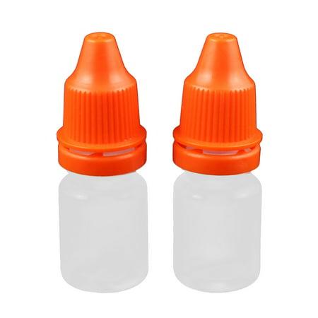 2Pcs 5ml Dropper Clear Plastic Bottle Drop Eye Liquid Squeezable Empty Red Cap](Empty Eye Socket Halloween)