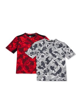 Russell Boys 4-18 2-pack Camo Short Sleeve Active Shirts