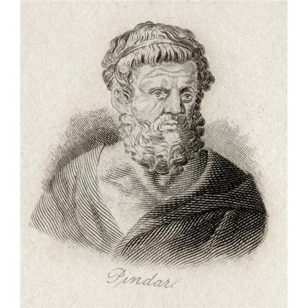 Posterazzi DPI1856807LARGE Pindar Or Pindaris of Thebes 522 Bc 443 Bc Ancient Greek Lyric Poet Engraved by J.W.Cook Poster Print, Large - 26 x 30 - image 1 of 1