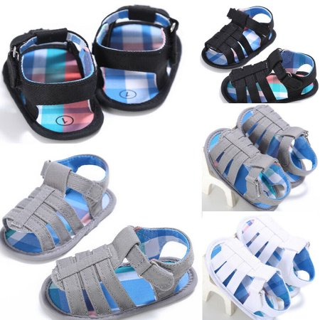 - Summer Beach Baby Boys Sandals Hollow Soft Sole Toddler Crib Shoes Prewalker Sneakers
