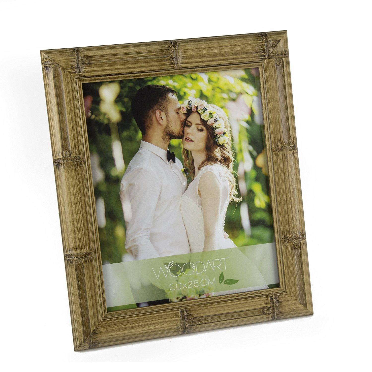 WOODART Picture Frame 6-inchesx8-inches Bamboo Style Wood Photo Frame