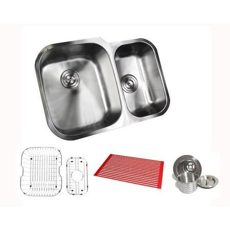 Contempo Living Inc Ariel Pearl Satin 29-inch Stainless Steel ... on kohler undermount sink kit, sink drain kit, sink undermount installation kit,