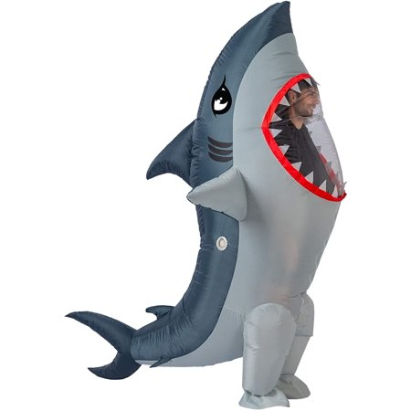 Gold Toy Inflatable Costume Full Body Shark Air Blow-up Deluxe Halloween Costume - Adult Size