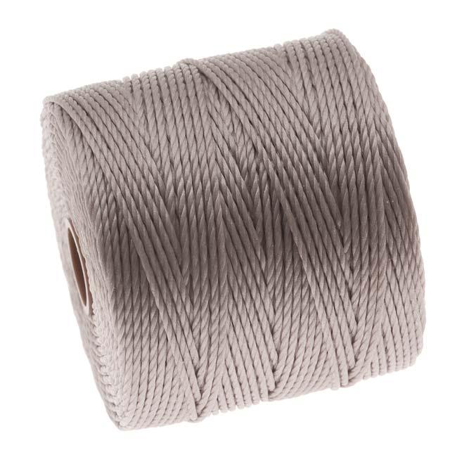 BeadSmith Super-Lon (S-Lon) Cord - Size 18 Twisted Nylon - Silver / 77 Yard Spool