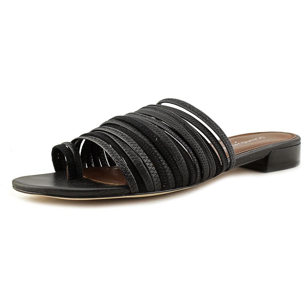 Donald J Pliner Frea Open Toe Leather Slides Sandal by Donald J Pliner