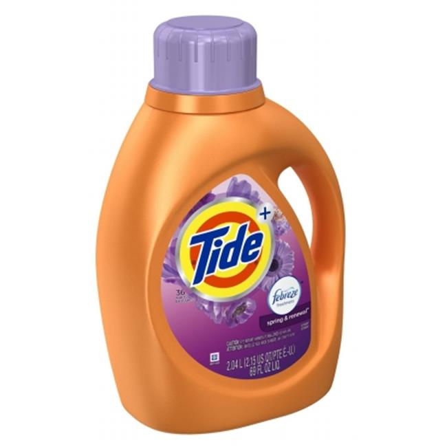 Tide 87565 Spring & Renewal Tide Laundry Detergent with Febreze, 69 oz