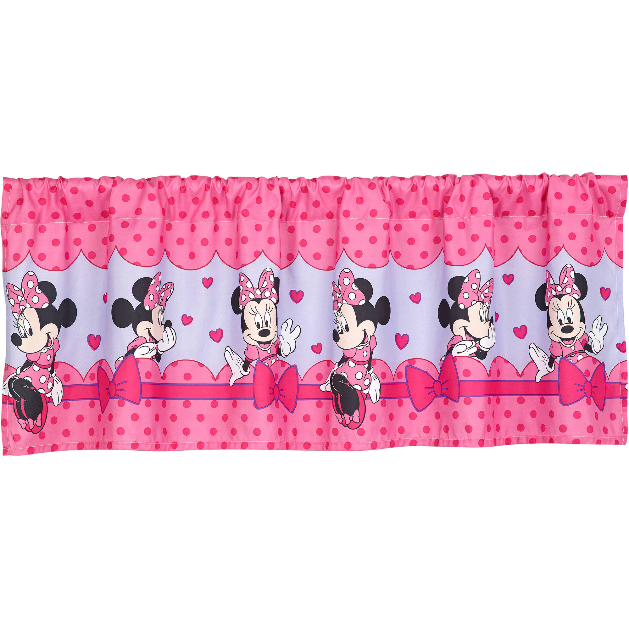 Disney Minnie Mouse Bow Power Girls Bedroom Curtain Valance