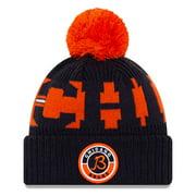 Chicago Bears New Era Youth 2020 NFL Sideline Alternate B Logo Sport Pom Cuffed Knit Hat - Orange/Navy - OSFA