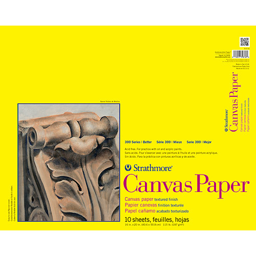 "Strathmore Canvas Paper Pad, 16"" x 20"", 115lb, 10 Sheets"