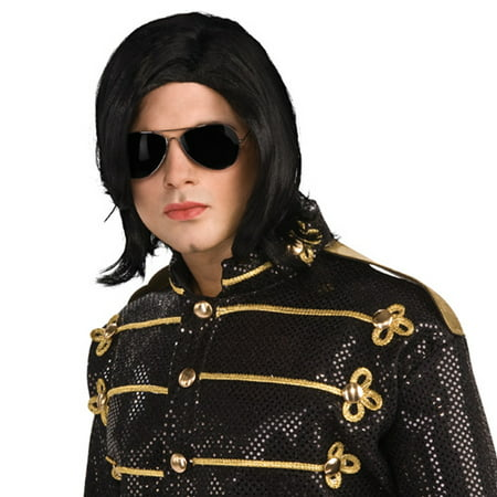 Michael Jackson Straight Wig and Glasses