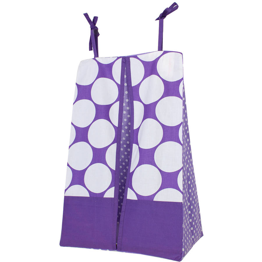 Bacati, MixNMatch Diaper Stacker, Purple