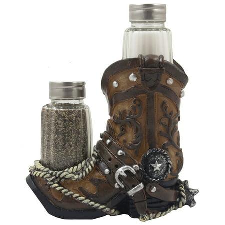 Decorative fancy cowboy boot salt and pepper shaker set for Fancy kitchen decor