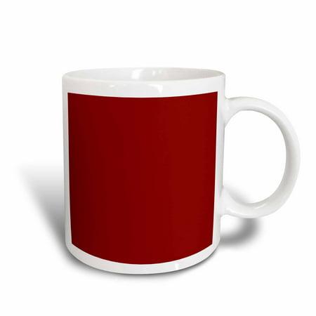3dRose Burgundy red - dark marroon russet fire-brick dark-barn red-brown - plain simple solid color - Ceramic Mug, (Russet Color)
