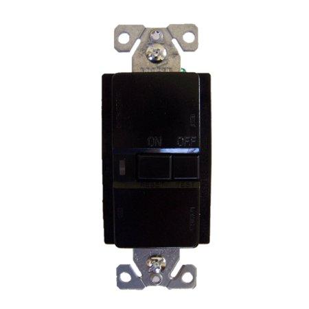 Cooper Wiring Devices VGFD20BK 20-Amp Blank Face Decorator Duplex Receptacle, Black