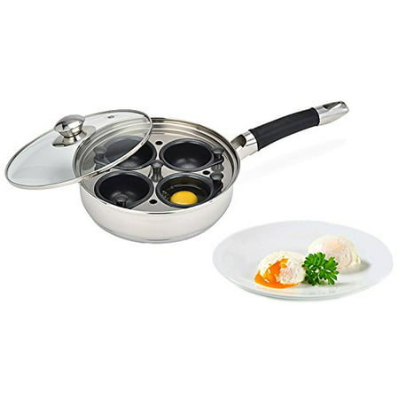 Modern Innovations Stainless Steel Egg Poacher Pan Set