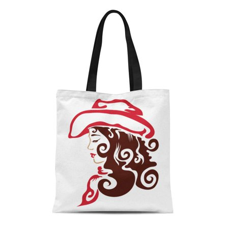 ASHLEIGH Canvas Tote Bag Cowboy Cowgirl Western Tribal Hat Original Tattoo Wild West Reusable Shoulder Grocery Shopping Bags (Best Tribal Shoulder Tattoos)