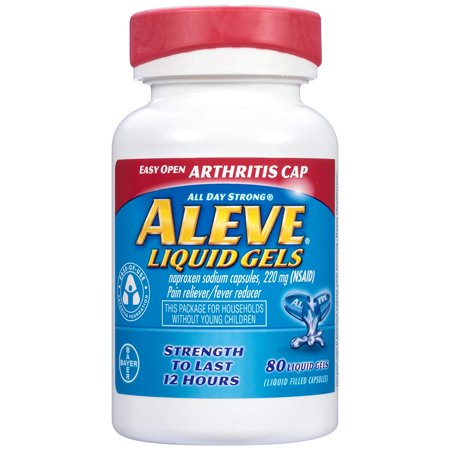 Aleve Easy Open Arthritis Cap Pain Reliever/Fever Reducer Naproxen Sodium Liquid Gels, 220 mg, 80