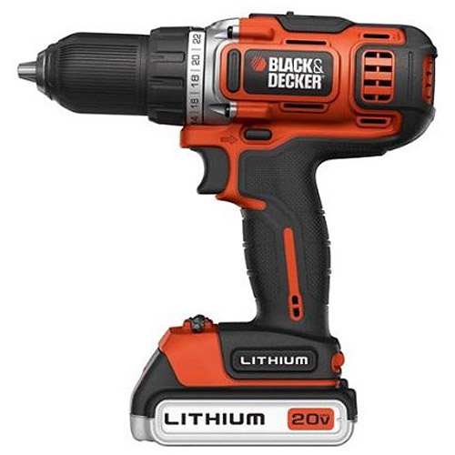 "Black and Decker 1/2"" 20V 2G Drill/Driver with 2 Batteries, BDCDHP220SB-2"