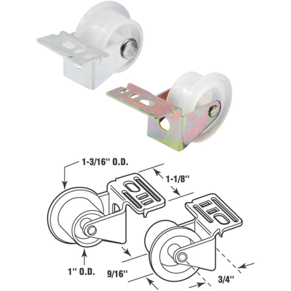 Prime-Line Drawer Guide Roller Assy For Track Mounted Drawers Right Hand 1 Card