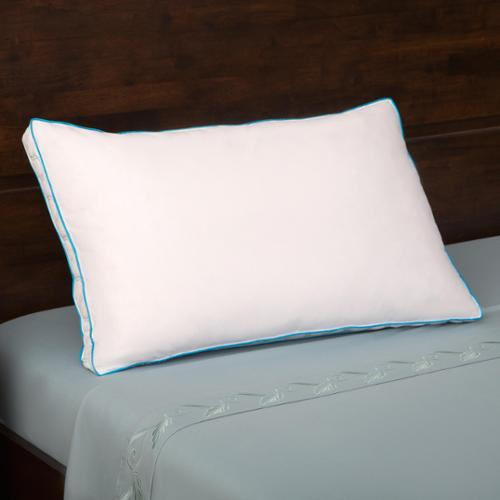 Grandeur Collection 300 Thread Count Cotton Feather and Down Compartment Pillow Standard