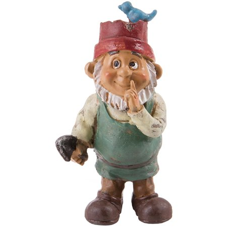 Fairy Garden Boy Gnome W/Hat-3.5