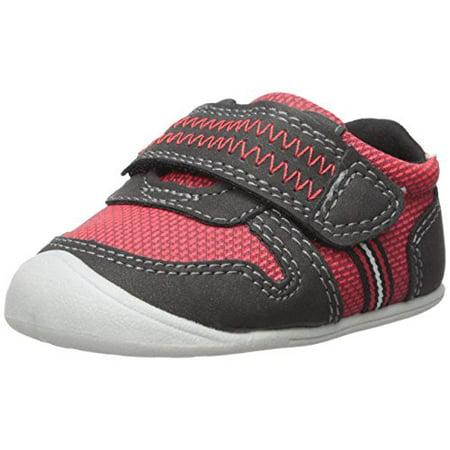 Every Step Boys' Stage 1 Crawl, Jamison-CB Sneaker, Red/Black, 2.0 M US (6-9