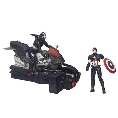 Avengers Age of Ultron Captain America and 's War Machine 2.5 Inch Figures with Blast Cycle..., By Marvel Ship from US
