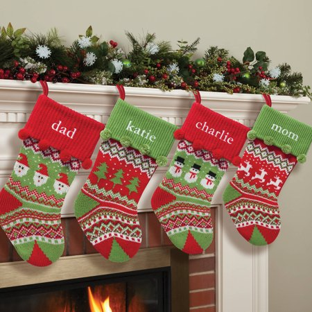 personalized knit christmas stocking 4 styles to choose from walmartcom