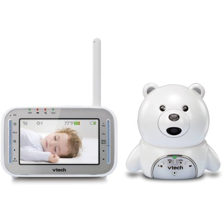 vtech bear vm346 expandable digital video baby monitor with automatic night vision white. Black Bedroom Furniture Sets. Home Design Ideas