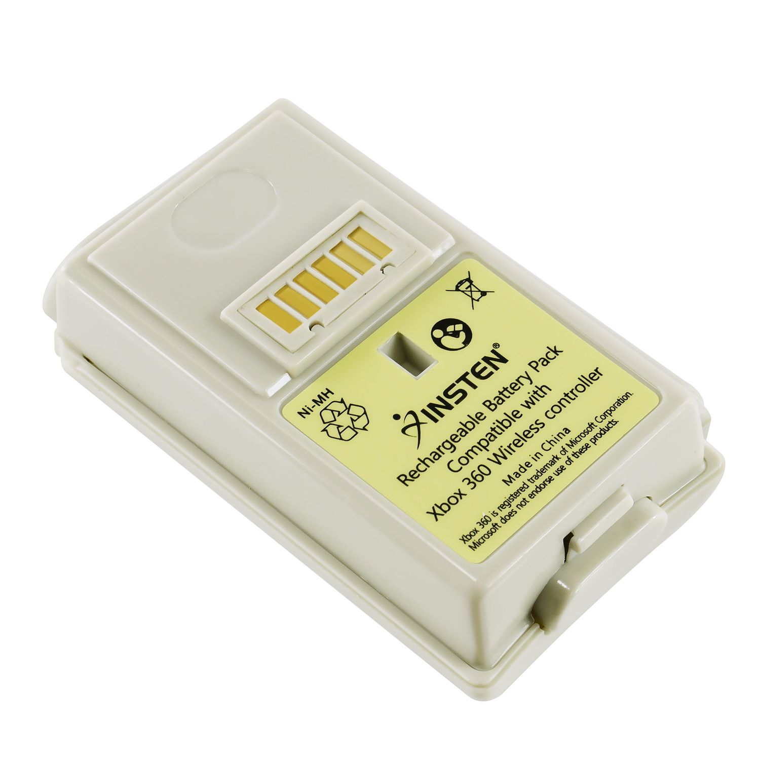 Insten Compatible Battery For Microsoft xBox 360, White