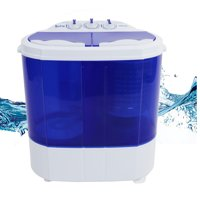 ZOKOP 10Lbs Portable Compact Washer Twin Tub Mini Washing Machine w/Wash 5.6LBS+Spin 4.4LBS Capacity