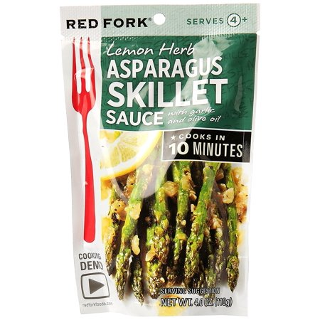 Asparagus, Lemon Herb Sauce, With garlic and olive oil By RED FORK