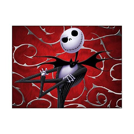 JACK Nightmare Before Christmas Edible Image Cake topper Birthday Decoration sugar sheet Skellington sally halloween party](Easy Halloween Cake Designs)