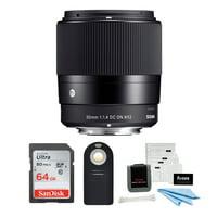 Sigma 30mm f/1.4 DC DN Contemporary Prime Lens for Sony E-Mount Bundle