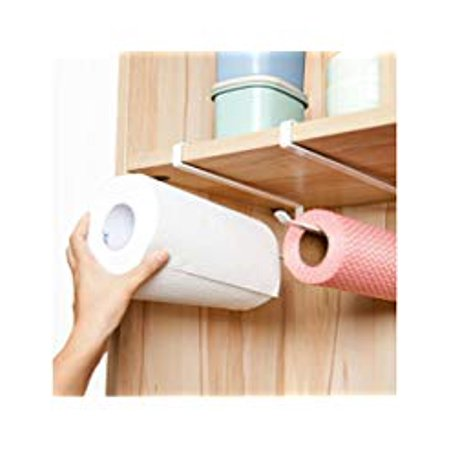 Alliebe 2pcs Paper Towel Holder Dispenser Under Cabinet Paper Roll