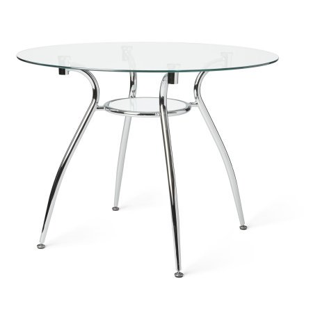 Quartz Glass Table (Mabel Glass Top and Metal Dining Table )