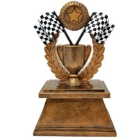 Racing Checkered Flag Trophy | Derby Award