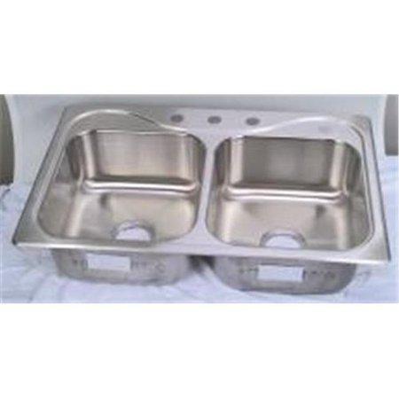 Sterling 107203 stainless steel kitchen sink double bowl - Walmart kitchen sinks ...