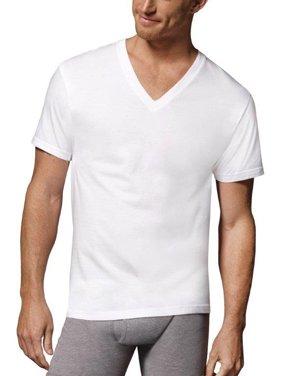 daab5f7a Product Image Hanes Tall Men's Comfortsoft Fresh IQ White V-neck 5 Pack